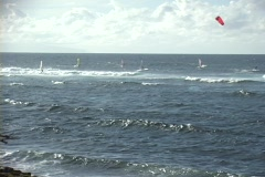 Windsailing in Maui Stock Footage