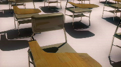 Stock Video Footage of t173 school desks education educational