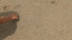 I LOVE YOU (Woman Writes In The Sand) Stock Footage