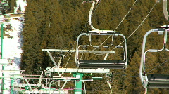 Winter Ski Lifts Stock Footage