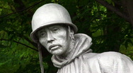 Stock Video Footage of Soldier Statue 01 HD