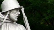 Stock Video Footage of Soldier Statue 03 HD