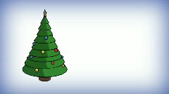 T173 christmas tree title safe zone Stock Footage