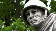Stock Video Footage of Soldier Statue 04 HD