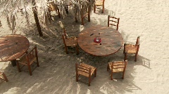 Tables At Beach Stock Footage