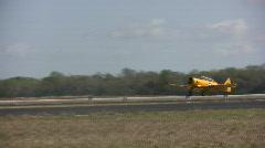 Vinrtage propeller airplane Stock Footage