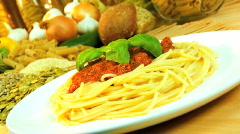 Traditional Italian Food - stock footage
