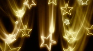 Gold Stars Flying In and Out HD Stock Footage
