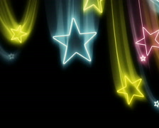 Bright Neon Stars Flying In and Out PAL Stock Footage