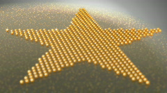 Star shape made of golden shiny balls Stock Footage