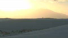 Stock Video Footage of White Sands Sunset 1