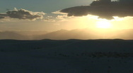 Stock Video Footage of White Sands sunset 3