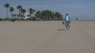 Stock Video Footage of Mature man at the beach