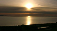 Golden Sunset Over Southern California Stock Footage