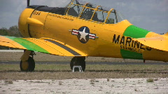 Old airplane for hire Stock Footage
