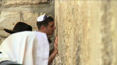 Western Wall - a man is praying 8 Stock Footage
