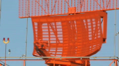 Rotating radar tower - 1 - zoom out Stock Footage