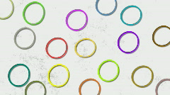 Circles in move - stock footage