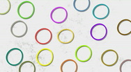 Circles in move Stock Footage