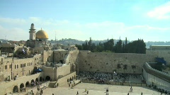 Western Wall - Jerusalem - fix frame - stock footage