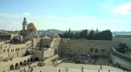 Stock Video Footage of Western Wall - Jerusalem - fix frame