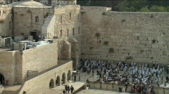 Western Wall - Jerusalem - pan right Stock Footage