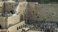 Stock Video Footage of Western Wall - Jerusalem - pan right
