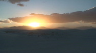 Stock Video Footage of White Sands sunset 10