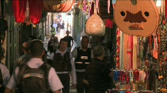 Streets Of The Muslem Quarter In Jerusalem 11 Stock Footage
