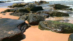 waves hitting rocks - stock footage