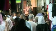 Stock Video Footage of Streets Of The Muslem Quarter In Jerusalem 8