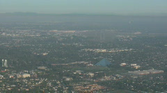 Rwy 30 Approach in to LGB CR Stock Footage