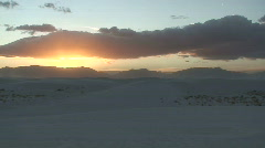Stock Video Footage of White Sands sunset 14