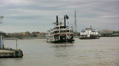 Paddle Steamer, New Orleans USA Stock Footage