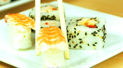 Healthy Japanese Sushi Stock Footage
