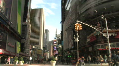 Times Square New York City Manhattan NYC Downtown Famous Landmark Stock Footage