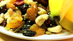 Healthy Snack Food Stock Footage