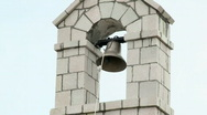 Church bell ringing on holy day Stock Footage