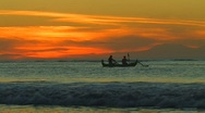 Stock Video Footage of Bali Sunset Boat Lovina Beach