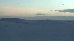 Stock Video Footage of White Sands sunset 20