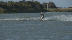 Water ski fall Stock Footage