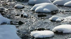Snow and water. Stock Footage