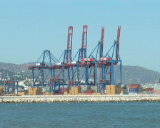 PAL: Port of Malaga Stock Footage