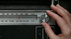 Tuning old radio Stock Footage