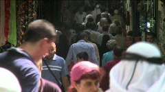 Streets Of The Muslem Quarter In Jerusalem 6 Stock Footage