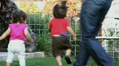 Kids and Parents Stock Footage