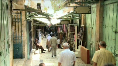 Streets Of The Muslem Quarter In Jerusalem 3 Stock Footage