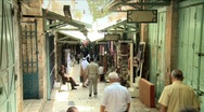 Stock Video Footage of Streets Of The Muslem Quarter In Jerusalem 3