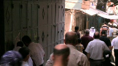 Streets Of The Muslim Quarter In Jerusalem Stock Footage