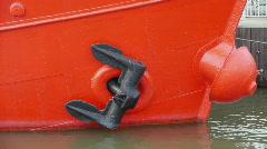 HD1080p Naval anchor on Lightvessel Fladen in Gothenburg Sweden Stock Footage